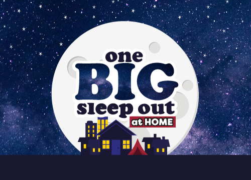 One BIG Sleep Out at Home