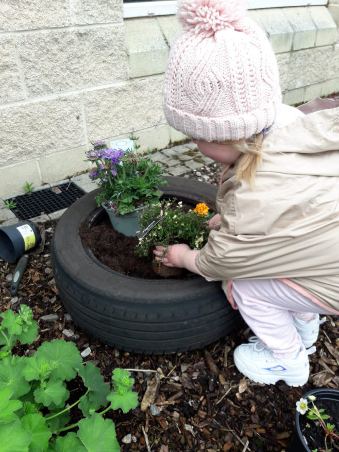 Simon Community Ensures No Child Left Behind Through New Play Learning Service Toddler Girl Gardening