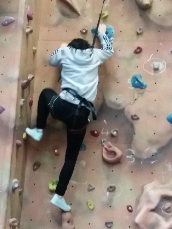 Bangor Healthy Living Week Climbing Wall 610X813