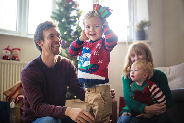 Family At Chritsmas Web Image