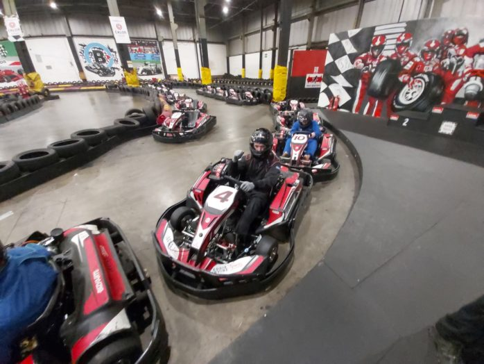 Simon Community Clients Go Karting As Part Of The Health Wellness Programme 1 2