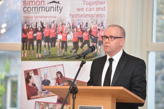 Simon Community Ni Jim Dennison Discussing Homelessness In Northern Ireland